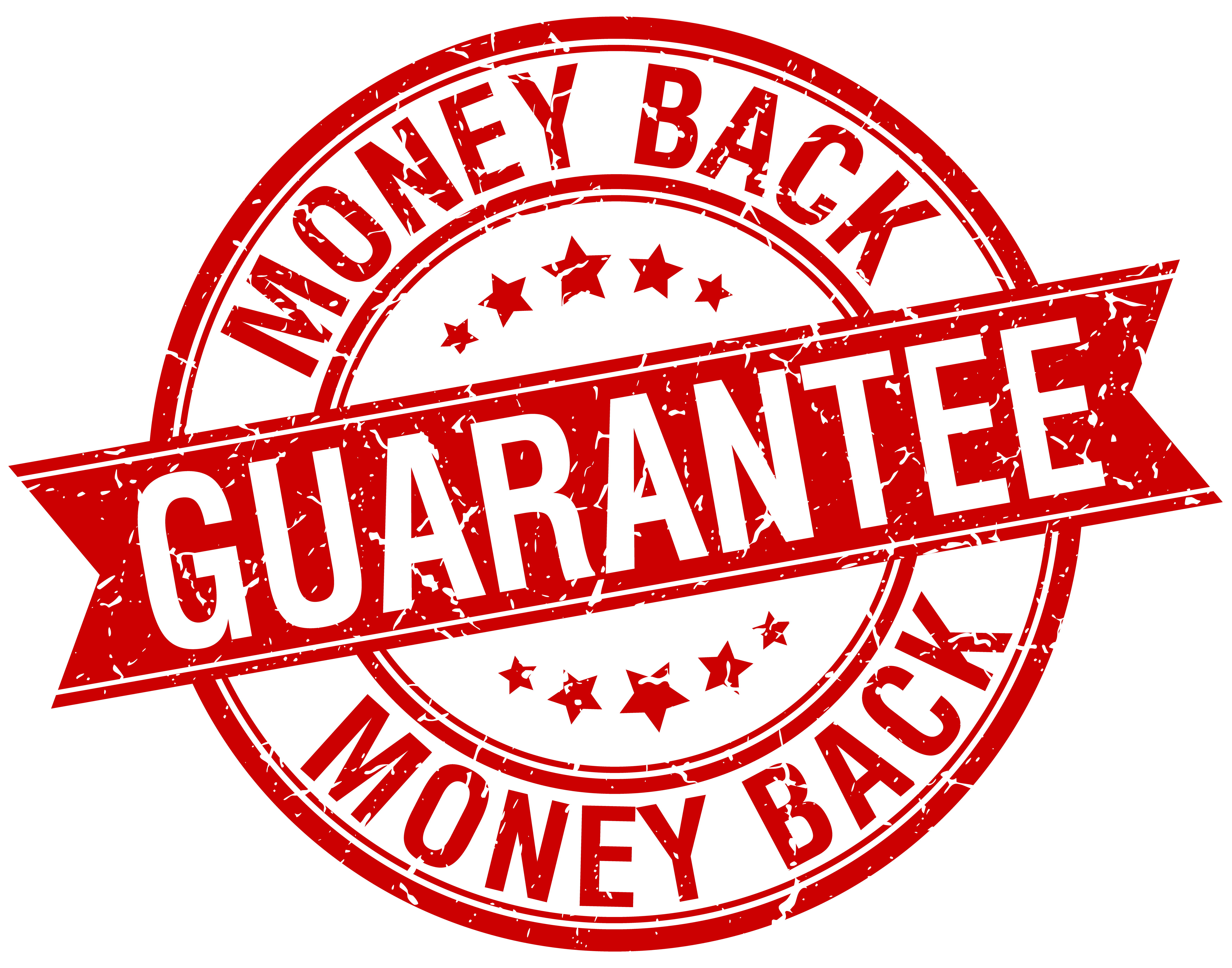 money back guarantee grunge retro red isolated ribbon stamp